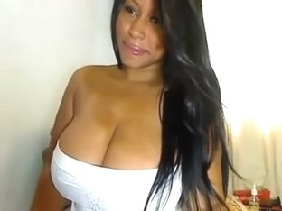 Huge Latina tits exposed on a webcam