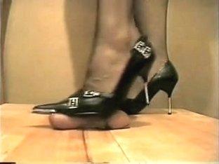 hotlegs-high heel cock and ball trample