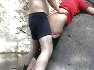 Just a quickie with my Indian girlfriend outdoors on webcam