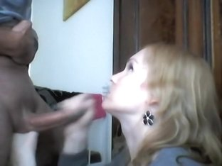 Sexy mistress performs a hot blowjob