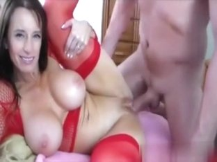 Breasty mother i'd like to fuck in nylons screwed by a giant lengthy weenie