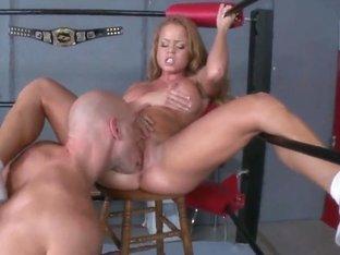 Johnny Sins fucks Nikki Delano in the ring