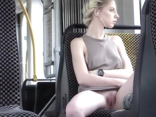 Hot blonde enjoys public nudity