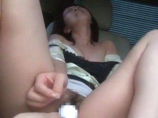 Hottest Japanese girl in Fabulous Dildos/Toys, Car JAV movie