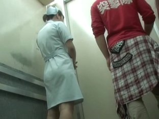 Nasty man sharked her skirt in the lift of medical clinic