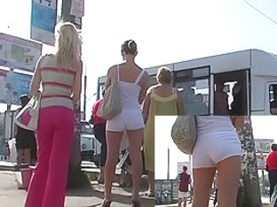 Constricted white shorts movie