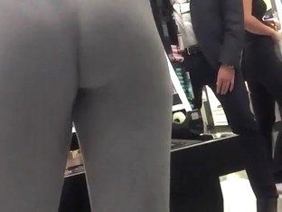 Nice butt chick in gray leggings