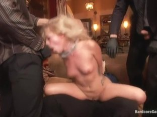 Cutie Lives out her Fantasy of Being Dp'ed by her Dad's Security Men