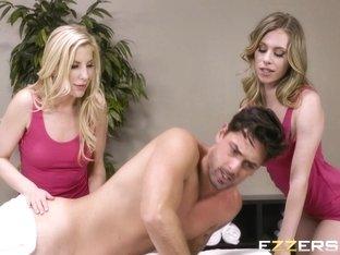 Anya Olsen And Ashley Fires Hotel Babes Trade Big Cock