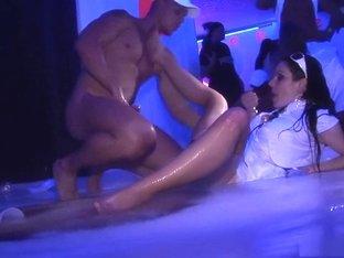 Horny pornstars Christina Lee, Carmen Blue and Leony Dark in amazing big tits, group sex porn video
