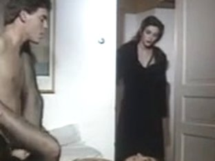 Vintage Italian female-female-male scene