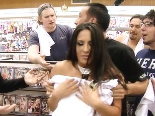 Jenaveve Jolie buys Keiran Lee's axe in the shop