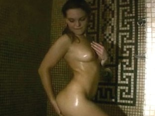 Girlfriend taking a wet shower