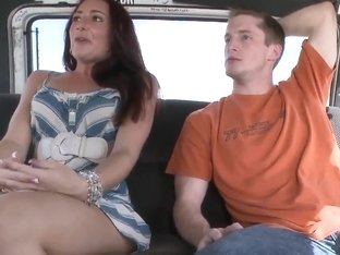 Hot brunette Savannah Fox gets into a fuck van