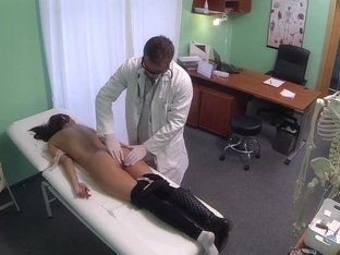 Youthful woman with mind blowing body caught on camera getting drilled by doctor