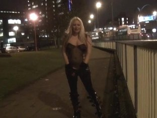 KazB night of exhibitionism and golden-haired english pornstar