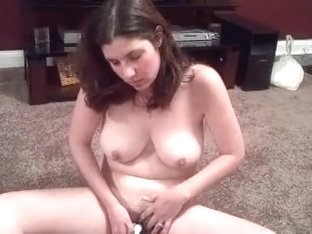 Busty neighbour masturbates
