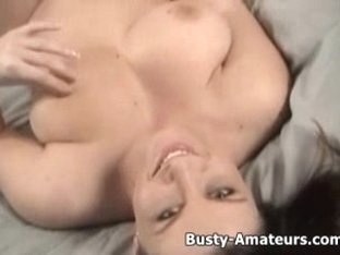 Breasty Sara on solo sex-toy masturbation