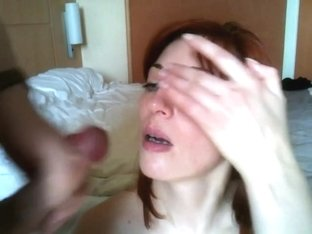 Redhead gives a great bjand fucked from behind