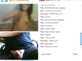 Hot nerdy girl with glasses helps a guy out on omegle