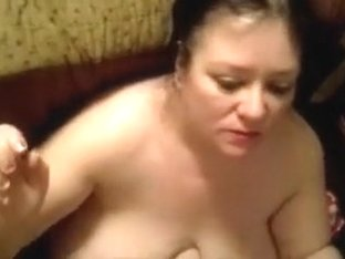 Chubby brunette girl sucks my cock and gets facialed