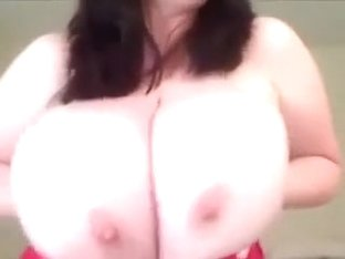 Stunning solo video with me kneading my big natural tits
