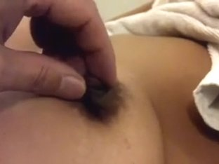 Playing with valuable and sexy nipples of mulatto babe