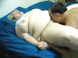 Fat mature blonde gets her pussy eaten out and missionary fucked