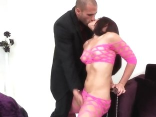 Sex appeal Mischa Brooks sucking a big dick