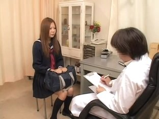 Sano's dripping yoni is fingered by a kinky gynecologist
