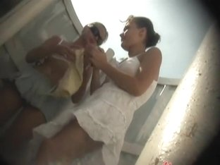 Two naked girl's caught in the cabin