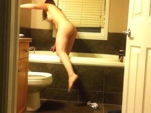 Secretly Filmed Washroom Time