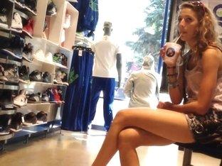Sports Store Crossed Legs