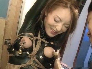 Crazy Japanese slut in Hottest Latex, BDSM JAV clip