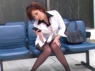 Amazing Japanese whore Yuria Shima, Kaede Oshiro, Himari Seto in Crazy Stockings/Pansuto JAV scene