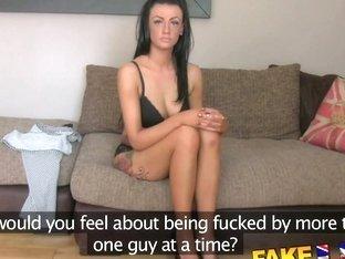 FakeAgentUK Hot fake casting amateur takes huge cumshot