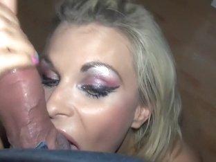 Amateur big boobs vid shows me suck cock and get facial