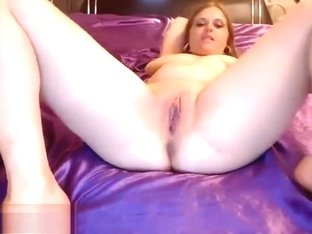 Exoticstrip1 fondles and fucks her pussy