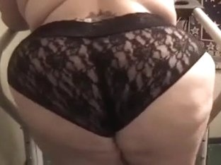 Huge mambos and 100 lbs arse of my wife in black lacy undies