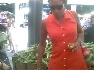 Nice Ebony Upskirt