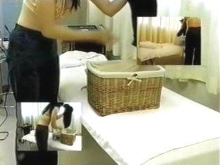 Adorable Japanese enjoys a kinky voyeur erotic massage