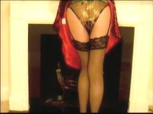 Red Retro Dress Black Lingerie