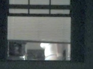 Real amateur tits voyeured through the window naked