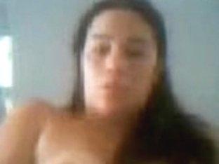 My homemade big tit porn vid shows me posing on webcam