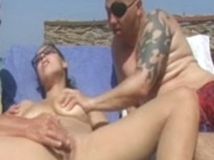 In Nature's Garb Beach - Large Boob Pierced Older - Male+Male+Female 3Some Play