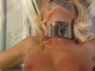 Large titties blond captured as a bondman