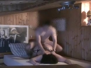 Fat brunette girl sucks my prick and takes a ride on it