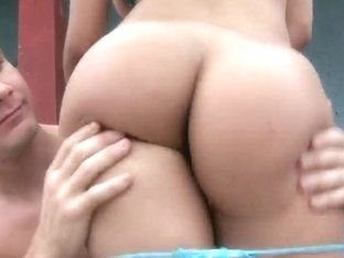 Luxurious amateur nymph nailed well outside