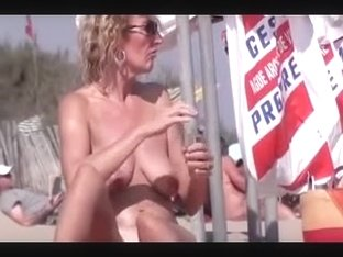 Nude Beach - Buxom French Mature