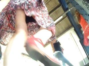 Real public amateur redhead upskirt video